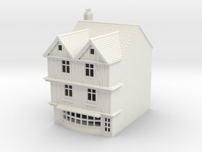 TFS-69 N Scale Topsham Fore Street building 1:148 in White Strong & Flexible