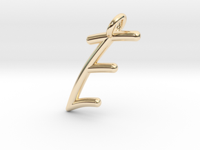 E in 14k Gold Plated