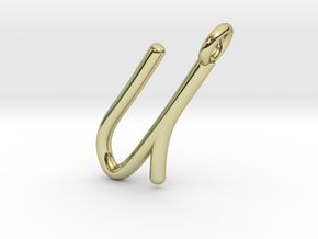 U in 18k Gold Plated