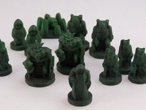 Tribes of the Dark Forest in Full Color Sandstone