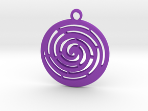 Spiral maze pendant  in Purple Strong & Flexible Polished