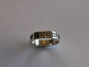 11 Reserved Ring Size 7 in Polished Silver