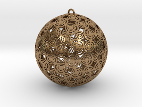 Christmas Ornament 1 in Raw Brass