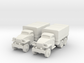 1/144 Studebaker truck 6x6 in White Strong & Flexible