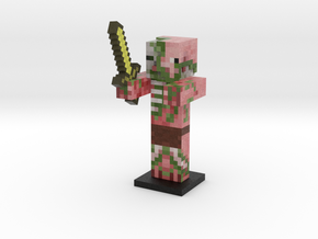 Zombie Pigman- Gold Sword in Full Color Sandstone
