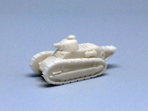 1/144 Renault FT tank (3 pieces) in White Strong & Flexible