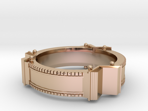 Bookring (size 8.0) in 14k Rose Gold Plated