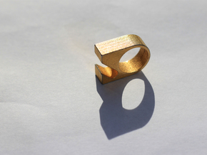 Opener Ring size8  in Matte Gold Steel