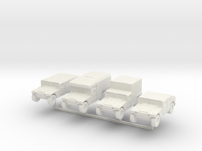 1/220 z-scale Humvee HMMWV Hummer 4 types in White Strong & Flexible