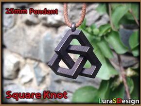 Square Knot Pendant in Stainless Steel