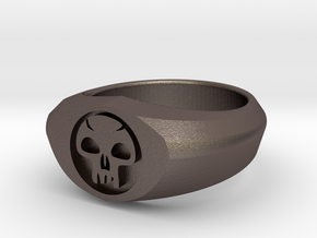 MTG Swamp Mana Ring (Size 7) in Stainless Steel