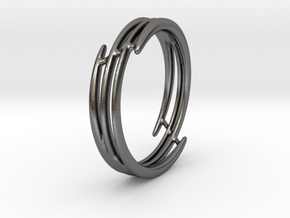 Bracelet of set : Soft Energy (medium) in Polished Nickel Steel