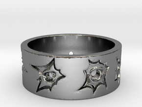 Outlaw Bullet Holes Ring Size 13 in Polished Silver