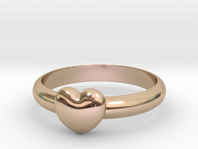 HEART RING - Size 19.5 mm (Dutch) / Size 9.5 (US/C in 14k Rose Gold