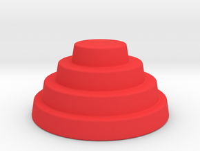 Devo Hat             BIG! 38mm Diameter  in Red Strong & Flexible Polished