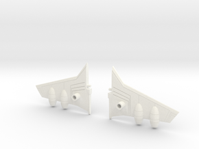 Transformers Seeker Estoc Wing Kit in White Strong & Flexible Polished