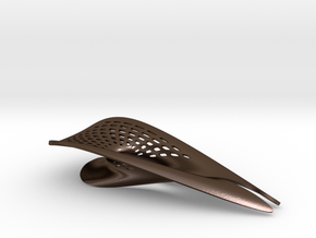 Zisch... Bottle Opener with perforated pattern in Polished Bronze Steel