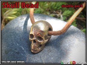 Human Skull Bead - double pack in White Strong & Flexible