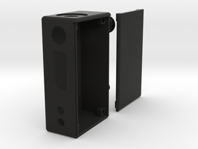 Box Mod Complete With Door & Button Caps in Black Strong & Flexible