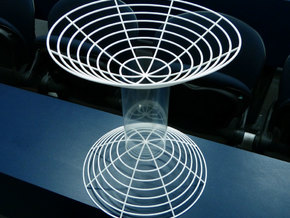 Hyperboloid of two sheets in White Strong & Flexible