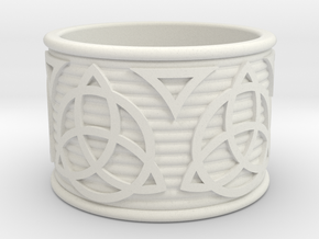 Celtic Ring size 14 in White Strong & Flexible