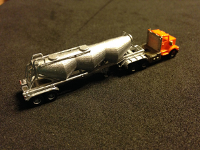 Dry Bulk Trailer Z Scale in Frosted Ultra Detail