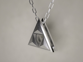Triforce Pendant in Polished Nickel Steel