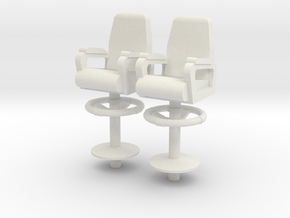 1:48 scale Ship Capt Chair in White Strong & Flexible