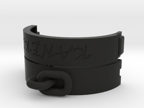 Handcuff bracelet customizable in Black Strong & Flexible