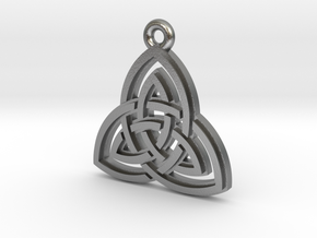 """""""Double Triquetra"""" Pendant, Cast Metal in Raw Silver"""