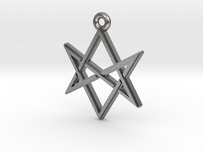 """Unicursal Hexagram"" Pendant, Cast Metal in Raw Silver"