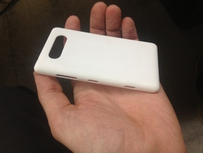 NOKIA Lumia820 shell no buttons in White Strong & Flexible