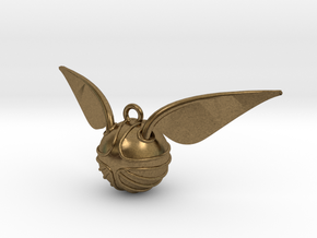 The Golden Snitch pendant in Raw Bronze