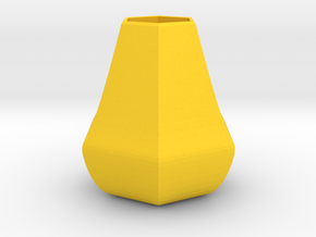 Bulky honeycomb vase in Yellow Strong & Flexible Polished