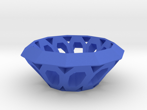 Bowl with oval holes in Blue Strong & Flexible Polished
