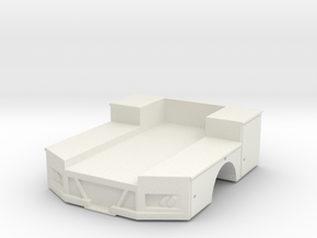 1/64 Truck Bed with tool boxes in White Strong & Flexible