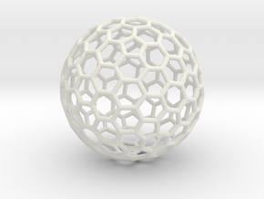 Fullerene C260 - large in White Strong & Flexible