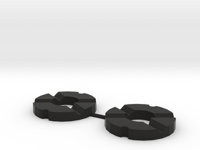 Martin Fletcher 4 Feather Rings in Black Strong & Flexible