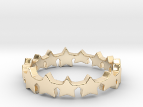 The Stars Shine Brighter   Size 6 in 14k Gold Plated
