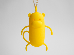 Monkey Pendant in Yellow Strong & Flexible Polished