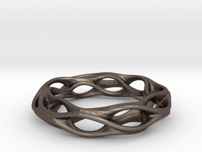 Twisted Holes Ring 17mm in Stainless Steel
