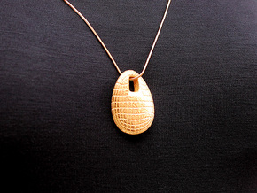 Chips Pendant #2271 in Polished Gold Steel