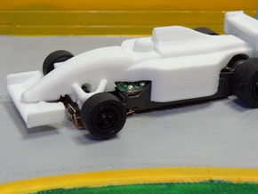 HO F1 1992 FW14B Slot Car Body in White Strong & Flexible Polished