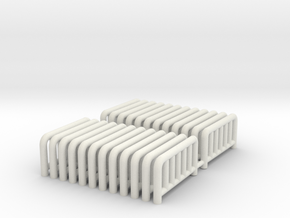 HO scale carnival fence in White Strong & Flexible