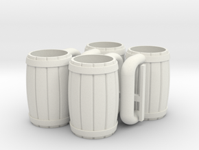 4 Mugs in White Strong & Flexible