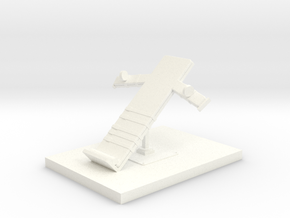 Miniature 1:48 Execution Bed in White Strong & Flexible Polished