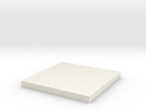 'HO Scale' - 12 Ft x 12 Ft Foundation Pad in White Strong & Flexible