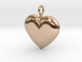 Heart pendant in 14k Rose Gold Plated