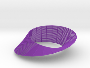 Mobius (wireframe) in Purple Strong & Flexible Polished