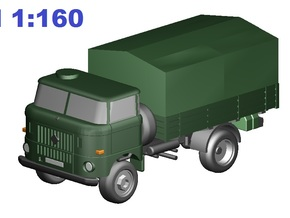 W50 Pritsche&Plane / flat bed & canvas (N, 1:160) in Frosted Ultra Detail